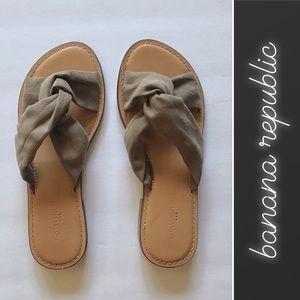 Banana Republic Faux Suede Slide Sandals